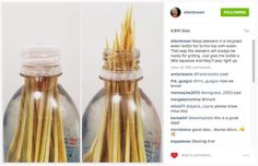 Keep Bamboo Skewers in a Filled Water Bottle for Easy Grilling | Lifehacker