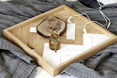 Trays – HERRINGBONE- Simple wooden tray – a unique product by Any-THING via en.DaWanda.com