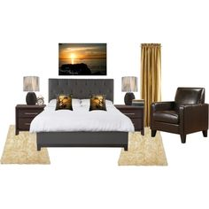 """Into The Sunset Bedroom"" by crystalgaylephotography on Polyvore"