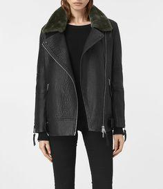 AllSaints New Arrivals: Tanser Leather Biker Jacket