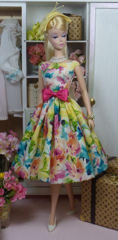 Barbie in garden floral dress