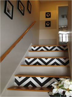 Unique ways to decorate the stairs