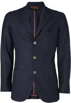 $2,995, Loro Piana Navy Cashmere And Silk Blend Unstructured Blazer. Sold by MR PORTER. Click for more info: https://lookastic.com/men/shop_items/253583/redirect