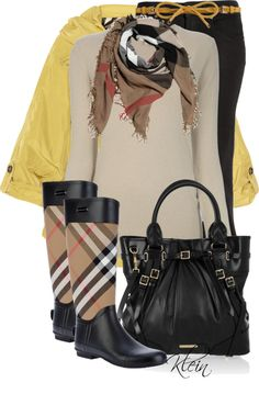 """""""A Rainy Day in Burberry"""" by stacy-klein on Polyvore"""