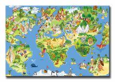 4361303 / Cuadro Mapa Infantil 01