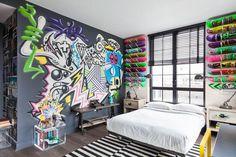 Graffiti en dormitorio