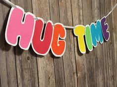 Rainbow Hug Time Trolls Banner Princess Poppy by lemonfancy trolls party 6th Birthday Parties, Third Birthday, Birthday Fun, Birthday Ideas, Trolls Party, Trolls Birthday Party, Los Trolls, Party Time, Decoration