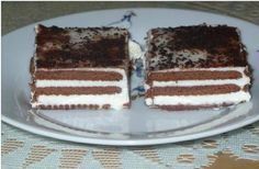 Vynikající jednoduché řezy bez pečení. Krém ze zakyselé smetany je lahodný a v kombinaci se sušenkami je TOP! Autor: Monička Vegan Desserts, Dessert Recipes, Vegan Challenge, Vegan Meal Prep, Vegan Thanksgiving, Vegan Kitchen, Vegan Curry, Sweet And Salty, No Bake Cake