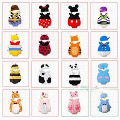 3pcs/Lot (0-1Y)Children kids infant newborn baby boys girls one piece rompers Cotton animal model jumpsuits bodysuits with Cap US $26.57 - 27.54