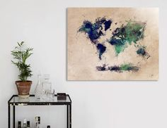 Discover «world map 30», Numbered Edition Aluminum Print by Justyna Jaszke - From $59 - Curioos