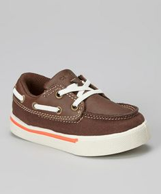 Another great find on #zulily! Brown Boat Shoe by Carter's #zulilyfinds