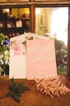 Garden Wedding Invitation Blush Wedding Invitation by SuitePaper, $10.00