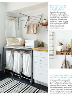 A small laundry room can be a challenge to keep laundry room cabinets functional, yet since this laundry room organization space is constantly in use, we have some inspiring design laundry room ideas. Room Makeover, Laundry Drying, Room Design, Laundry Mud Room, Room Organization, Small Laundry Space, Room Remodeling, Ikea Laundry Room