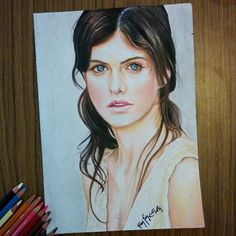 Alexandra Daddario I Love Sketching Beautiful Eyes And Faces She Really Has Hypnotizing Big Blue