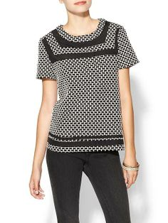Collective Concepts Checkered Knit Tee - Black/Ivory by: Collective Concepts @Piperlime®
