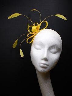yellow fascinator