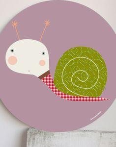 cuadro infantil caracol morado