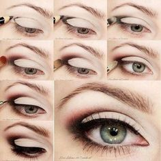 hooded eye makeup tutorial | Dawn combines this with glitter. She offers this dramatic eye makeup ...