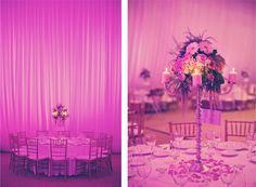 Centros de mesa e iluminación.