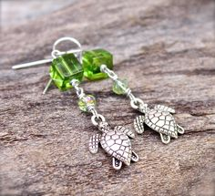 Sea Turtle Jewelry from Hawaii  Honu by MermaidTearsDesigns, $20.00
