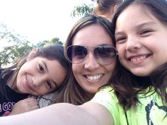 Selfie with mom and sister
