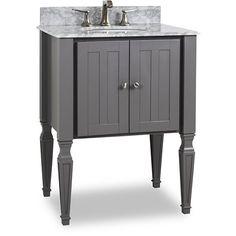 Hardware Resources Jensen (single) 28-Inch Grey Traditional Bathroom Vanity