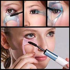 3 in 1 Mascara Shield Guard Eyelash Comb Applicator Guide Card Makeup Tool Make Up Pink Mascara, Mascara Tips, How To Apply Mascara, Applying Mascara, Make Up Tools, Curling Eyelashes, Eyelashes Makeup, Eyebrows, Make Up Anleitung