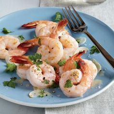 Twice-Cooked Garlic and Butter Shrimp | MyRecipes.com #myplate #protein