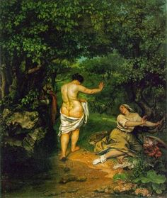 LE BAGNANTI Coubert- 1853- olio su tela- Musée Fabre, Montpellier, France
