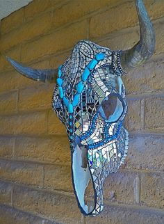 Stained Glass Mosaic Skulls