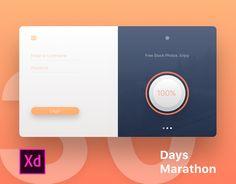 """다음 @Behance 프로젝트 확인: """"30 Days Marathon in Adobe XD"""" https://www.behance.net/gallery/45826005/30-Days-Marathon-in-Adobe-XD"""