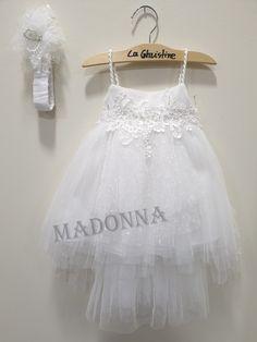 19K167 Little Dresses, Girls Dresses, Flower Girl Dresses, Madonna, Wedding Dresses, Fashion, Kids Fashion, Craft, Vestidos