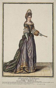 Francoise d' Aubigné, Marquise de Maintenon by Nicolas Arnoult