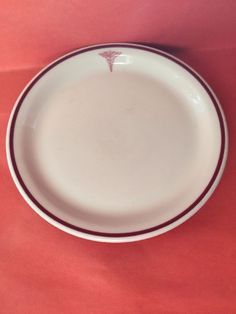 "Vintage Shenango China Medical Emblem Restaurant Ware 9"" Dinner Plate #Shenango"