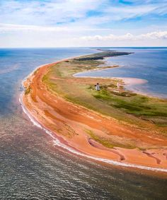 """***Sand island (Prince Edward Island) by Drone Hikers (@dronehikers) on Instagram: """"You need a boat to visit this lighthouse (or a drone).."""""""