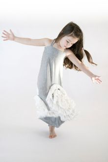 Full Bloom Maxi- Heather Gray and Ivory from Pixie girl