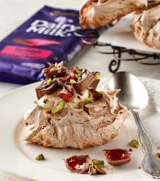 Cadbury Turkish Delight Chocolate Swirl Meringues Recipe