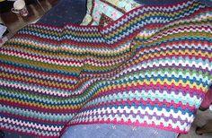 Vintage Stripe Crochet Blanket