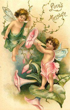 Valentine's Day Postcard - faries