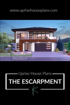 Lower Floor Area: 1281 sqft Main Floor Area: 1623 sqft Width: including cantilever) Depth: Garage: 2 Car Garage with Extended Bay Storeys: 2 Storey Walk-Up _________ Contemporary House Plans, Modern Contemporary, Photorealistic Rendering, Build House, New Home Designs, Car Garage, Luxury Living, Exterior Design, Custom Homes