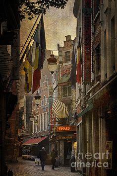 Title  Rue Des Bouchers   Artist  Joan Carroll   Medium  Photograph - Digital Photograph