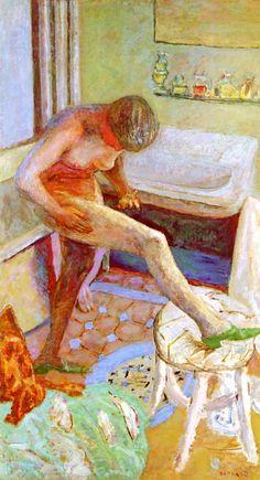 """THE GREEN SLIPPER"" Pierre Bonnard - circa 1925"