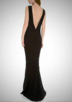 Floor length  maxi dress low back mermaid skirt dress by Gorgones