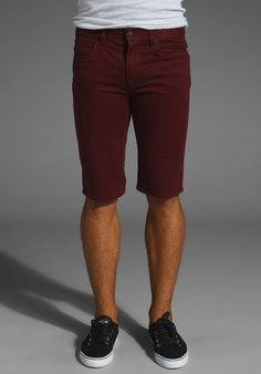 burgandy skinny shorts for the man with awesome legs