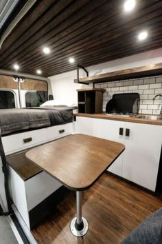 Adorable Wood Interior Ideas For Sprinter Van Camper, Volkswagen campers stick out from the crowd. A Sprinter van camper is readily the most flexible type of Sprinter RV. Our very last RV had one small ba. Cargo Van Conversion, Van Conversion Interior, Sprinter Van Conversion, Camper Conversion, Van Conversion Parts, Sprinter Camper, Kombi Motorhome, Camper Trailers, Campers