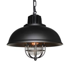 LNC Vintage Industrial Iron Glass Pendant Light ( Bulb Not Included )