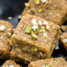 Indian sweet (fudge) made with Pistachios and Almonds. Easy sweet to make this Diwali!