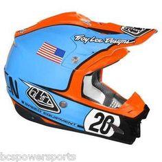 Troy Lee Designs SE3 Steve McQueen Helmet Blue Orange TLD SE 3 SE 3 Blue Orange | eBay