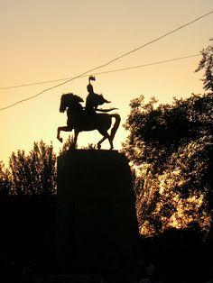 sunset in Bishkek, Kyrgyzstan