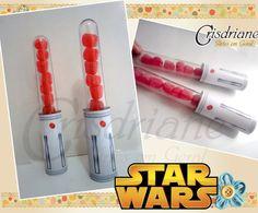 Tubete Sabre de luz Star Wars | Crisdriane Artes em geral | Elo7